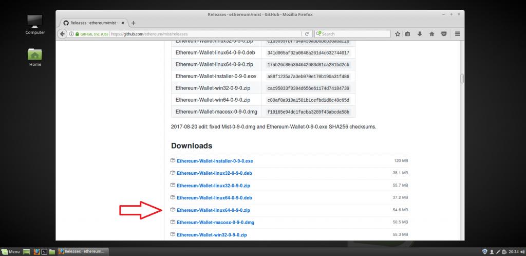 ethDownloadLinux